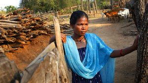 Kawasi Hidme, a tribal woman from Dantewada's Borguda village was arrested in January 2008 for the attack on a police patrol party in Bastar's Errabore village. (Saumya Khandelwal/ HT Photo)
