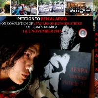 Repeal AFSPA and Release Political Prisoner Irom  Sharmila Now !